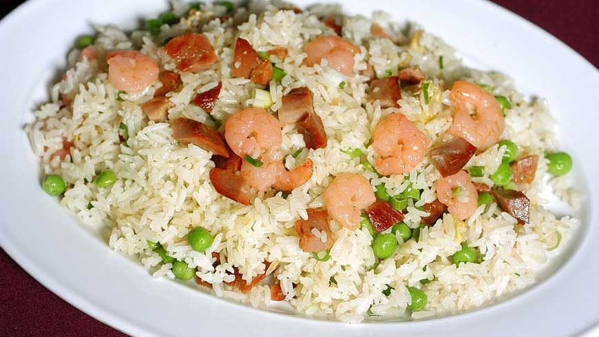 fried rice with chicken manchurian