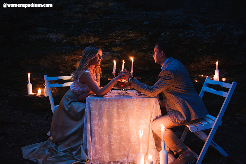 Arrange a Candlelight Dinner - surprise your woman