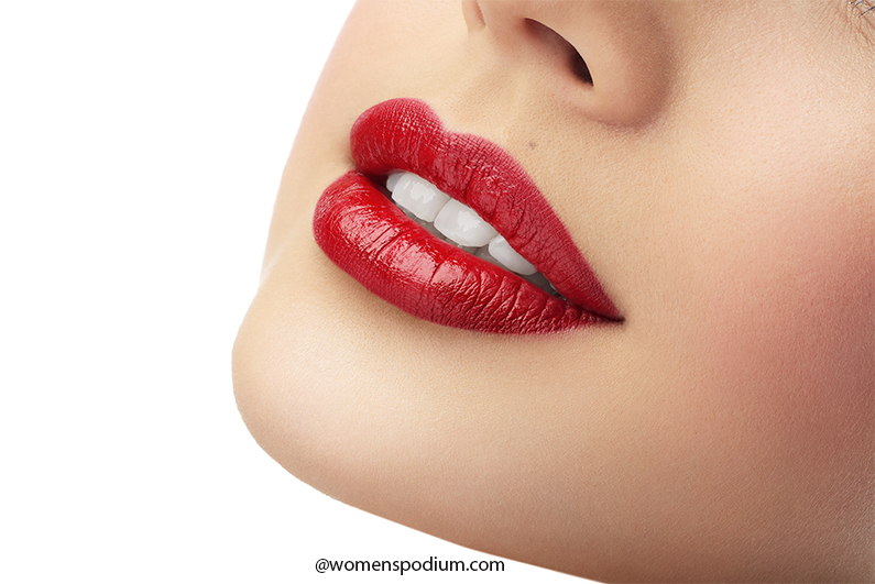 It Provides a Blank Canvas for Lipstick - concealer hacks