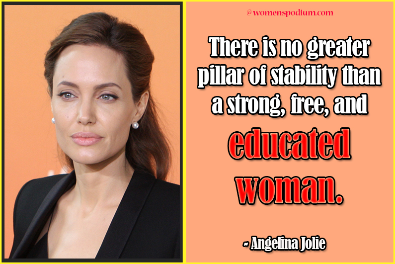 angelina jolie - quotes on women education