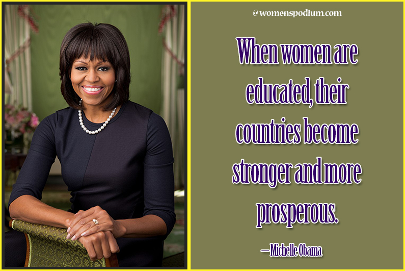 Michelle Obama - women education