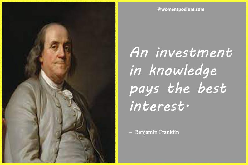 –Benjamin Franklin