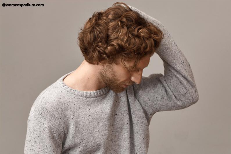 Men hates messing up his hair