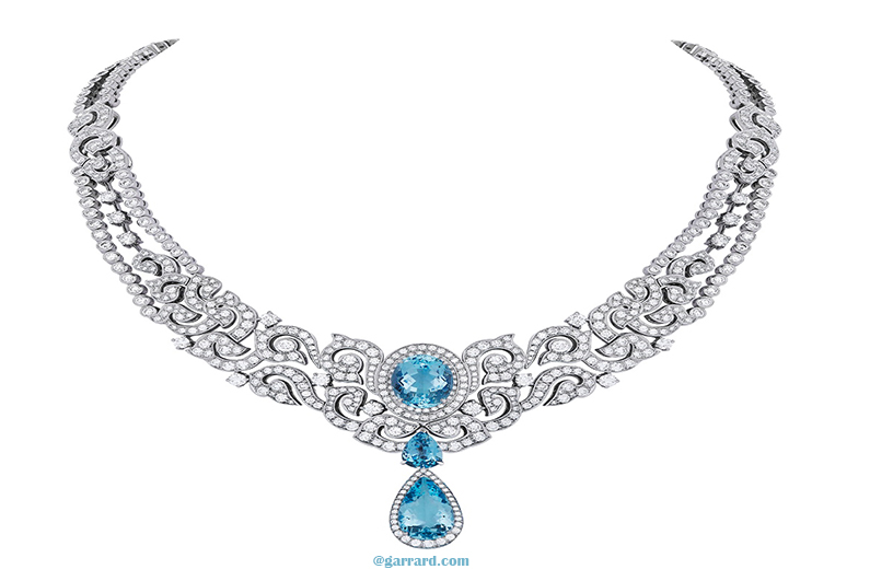 Bib Necklace – Aquamarine Snapdragon