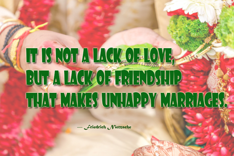 Lack of love or friendship
