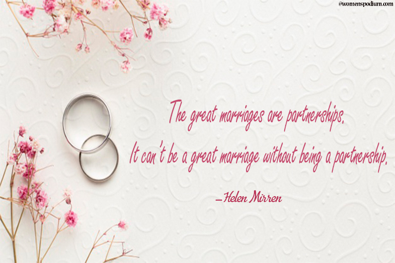 Great marriages are partnerships