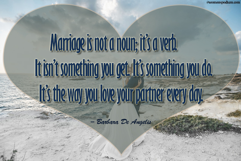 Marriage a loving relationship