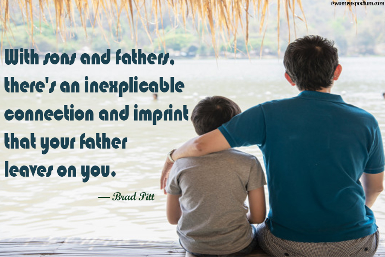 Brad Pit Quotes on Son
