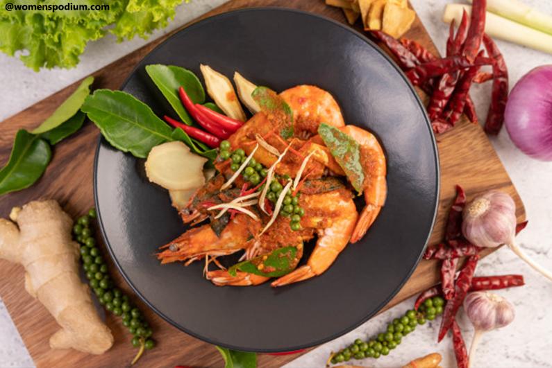 Shrimp Mushroom Spicy Stir Fry