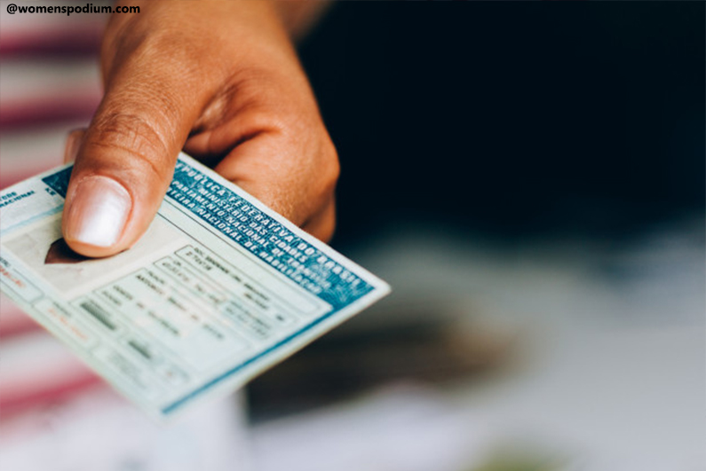 Identity cards or Driving license