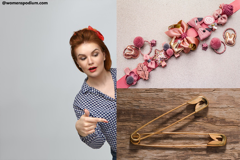 Safety Pins and Hair Accessories