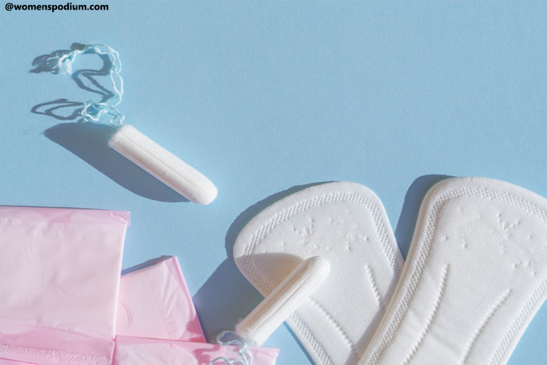 Sanitary pads and Tampons - Woman Must Carry In Her Bag