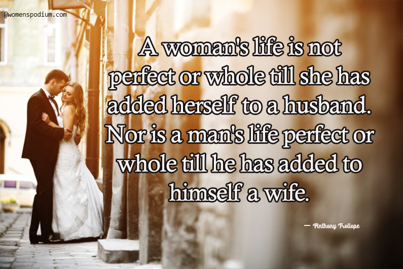 Anthony Trollope - wife quotes