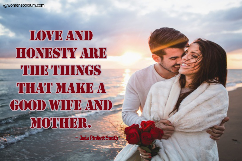 Jada Pinkett Smith - quotes on wife