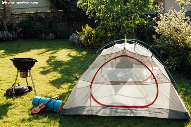 Fun activities with dad - Backyard Camping