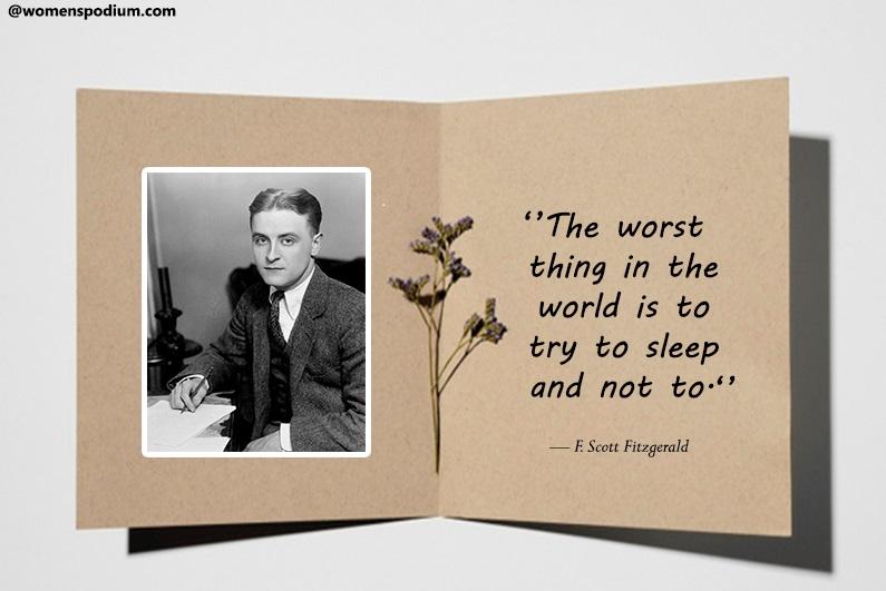 — F. Scott Fitzgerald