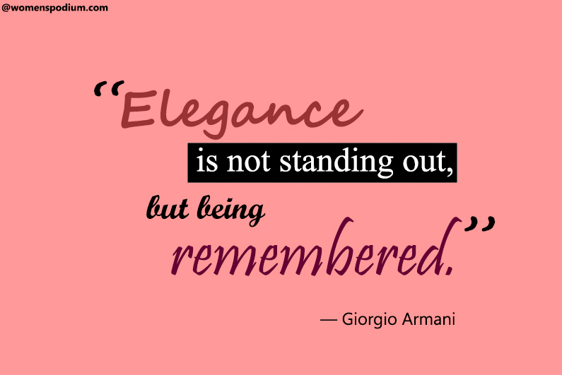 — Giorgio Armani