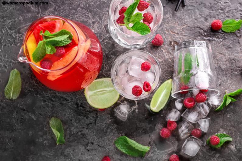 Fruity Mocktail Preparations - Raspberry and Lemon mocktail