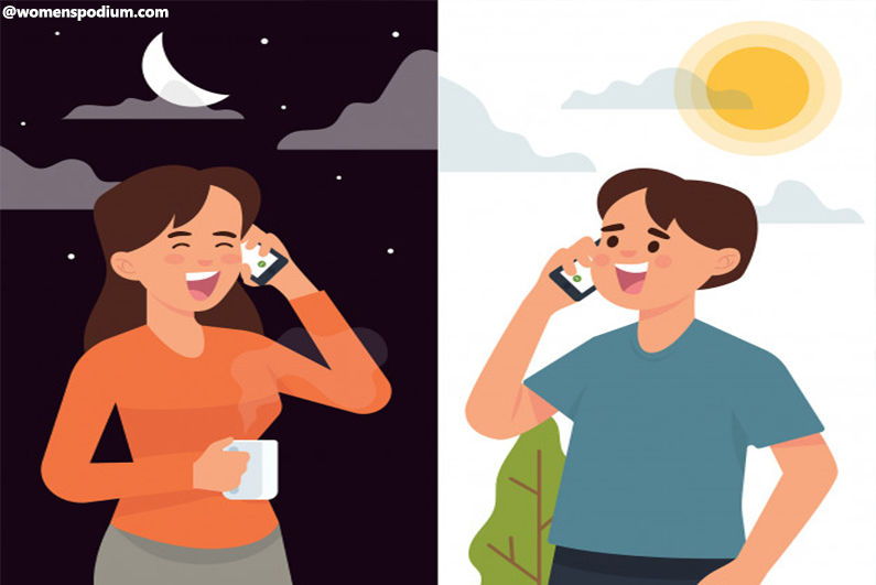Long-distance relationship - Set your schedules accordingly