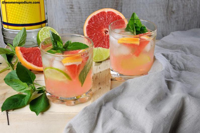 Fruity Mocktail Preparations - Mocktail with Grapefruit