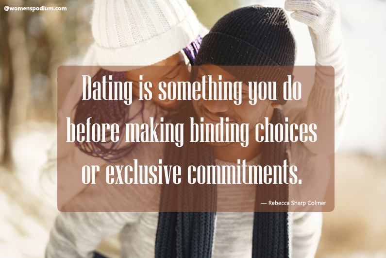 Rebecca Sharp Colmer - dating quotes