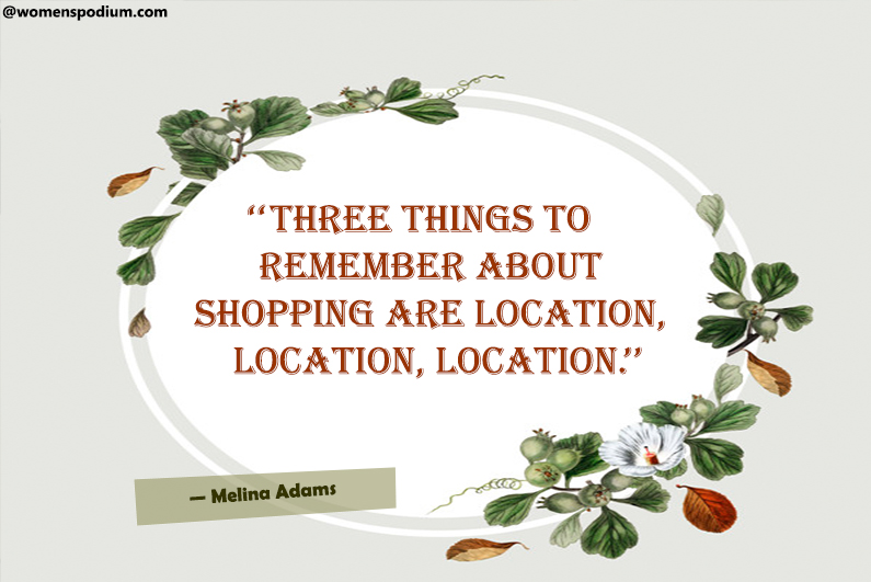 Shopping are location