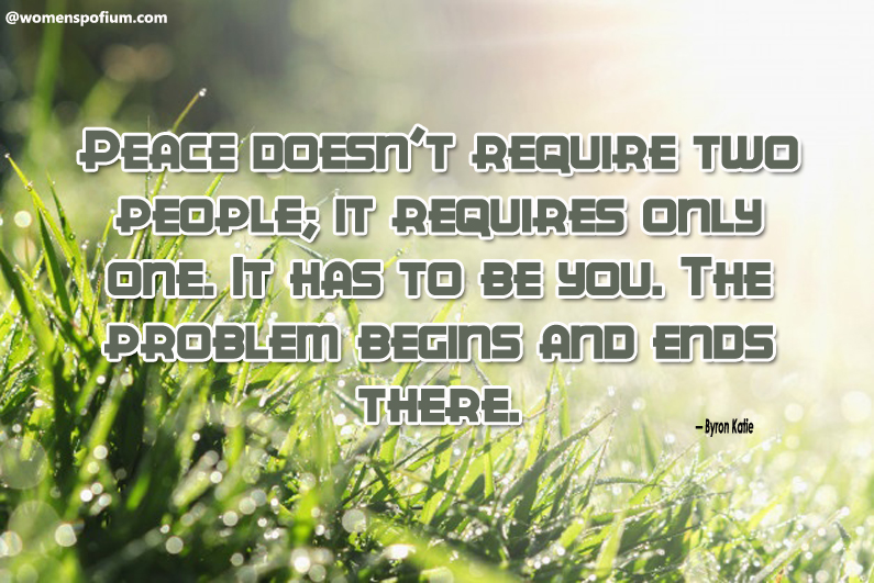 Byron Katie - peace quotes