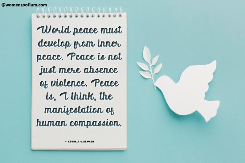 Dali Lama - peace quotes