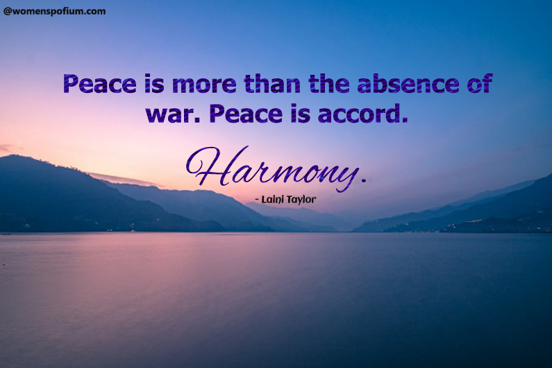 Laini Taylor - quotes on peace