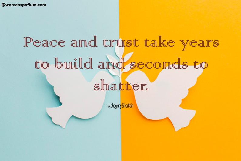 Mahogany SilverRain - peace quotes