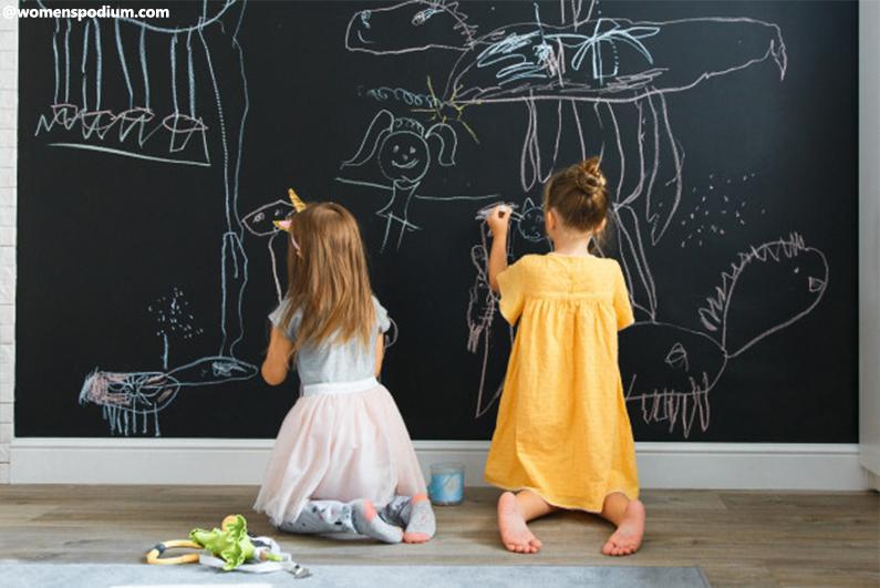 Turn Wall Into Chalkboard