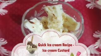 Quick Ice cream Recipe - Ice cream Custard