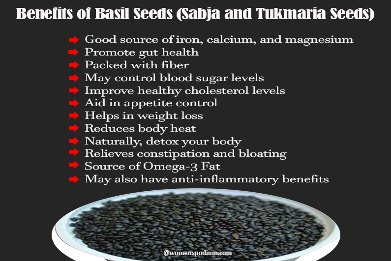 Benefits of Sabja Seeds