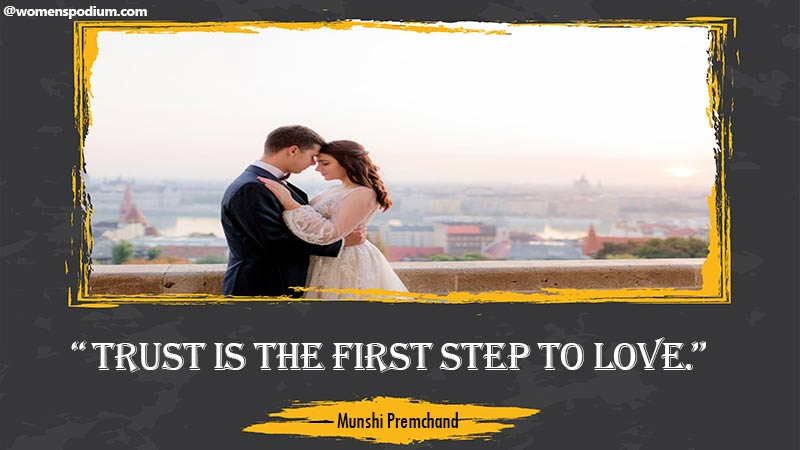 Trust is first step to love