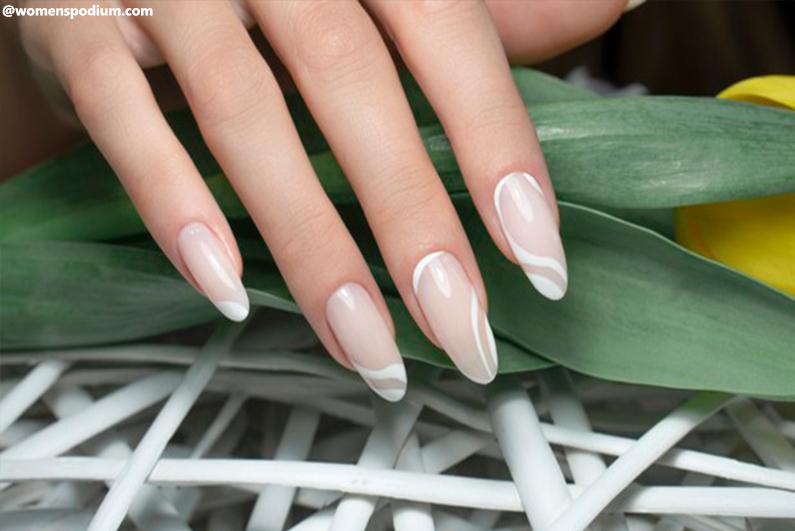 Nude Swirl Nail Designs