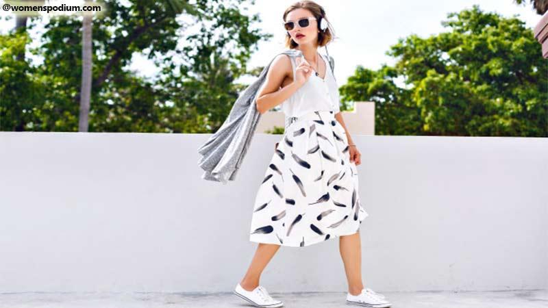 Box Pleated Skirt - summer skirts