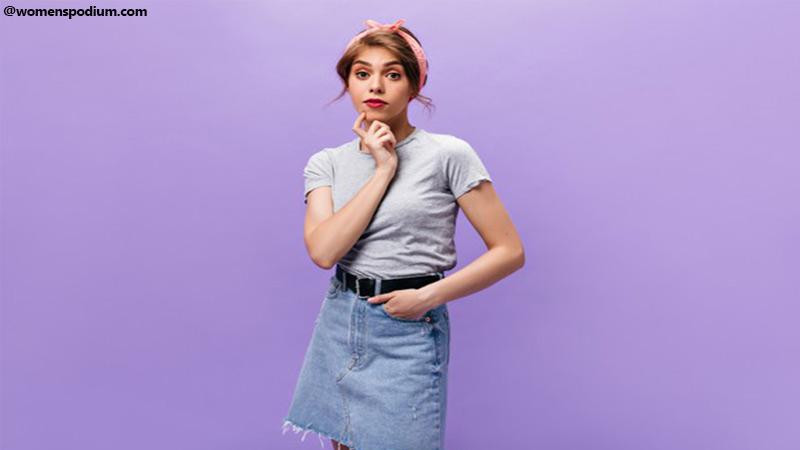 Denim Skirt - types of skirts