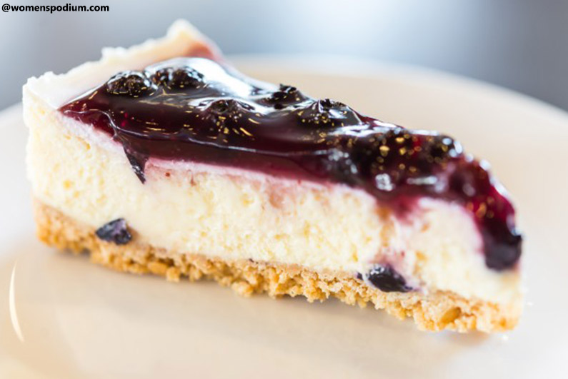 Blueberry Air Fryer Cheesecake