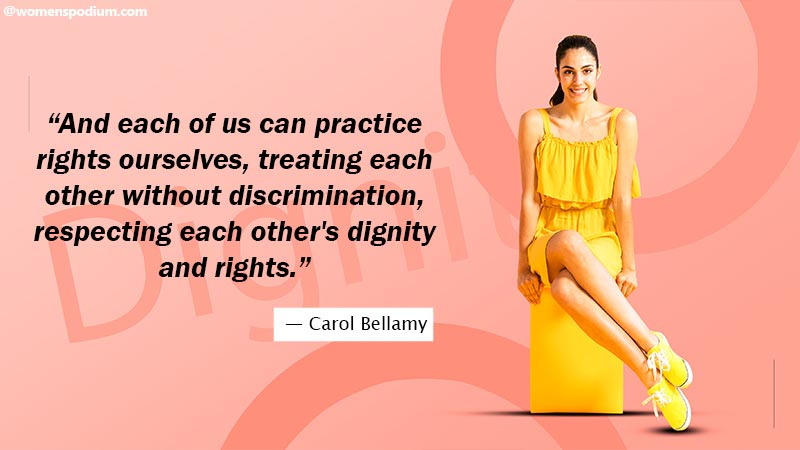 respect each other's dignity