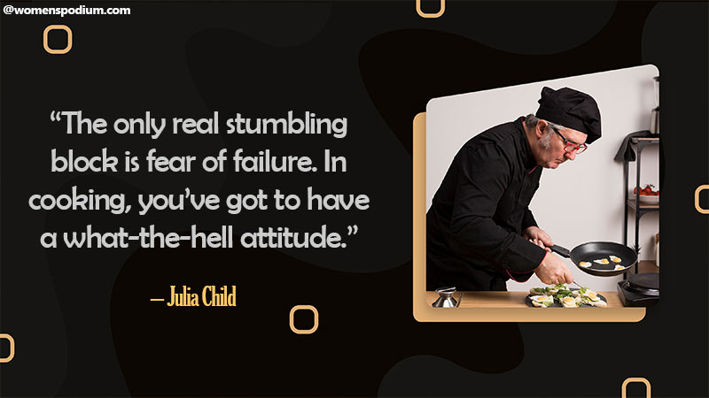 Fear of failure in cooking