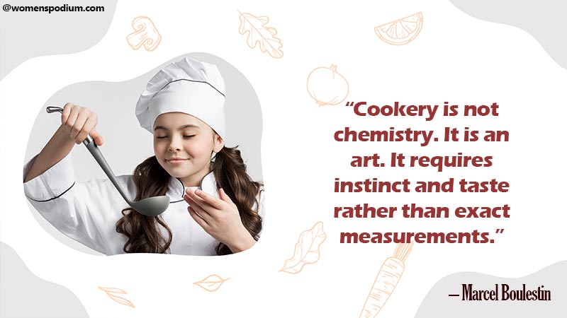 Cookery is not chemistry