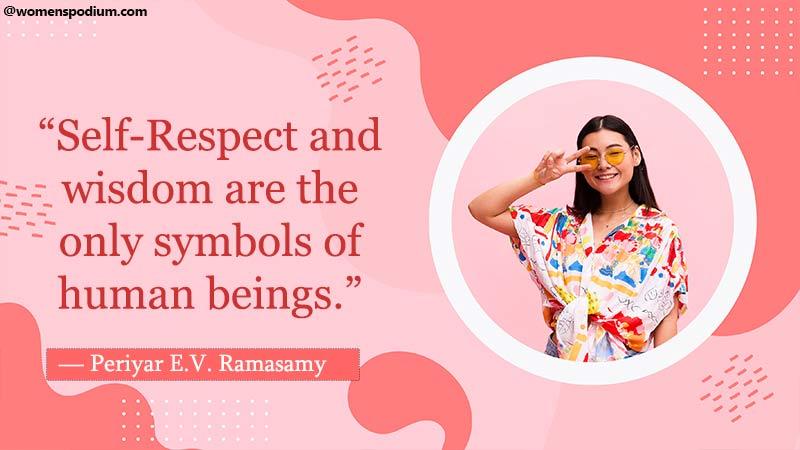 self respect and wisdom