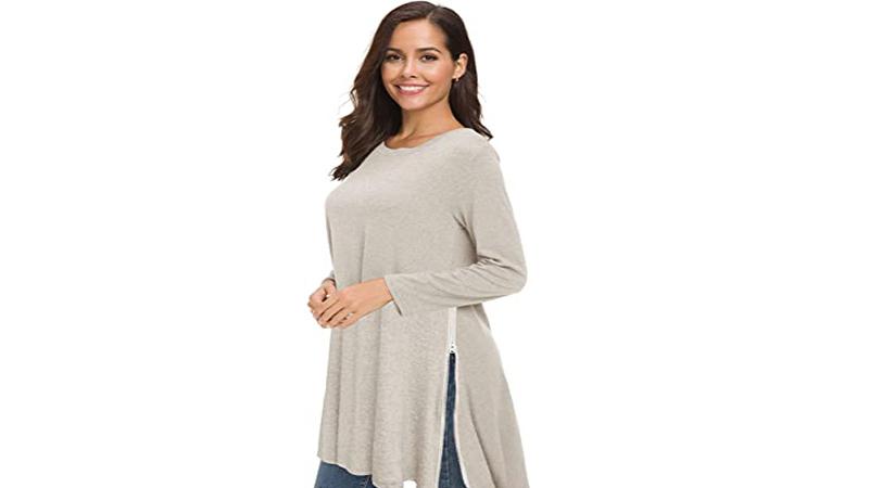 Side Slit Extra Long Tunic Shirt