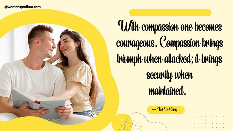 compassion brings triumph
