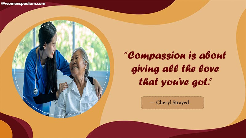 compassion is giving love