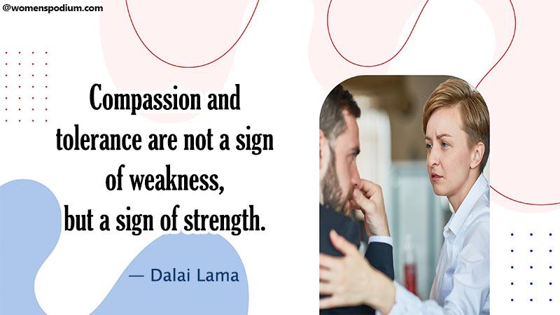 compassion and tolerance