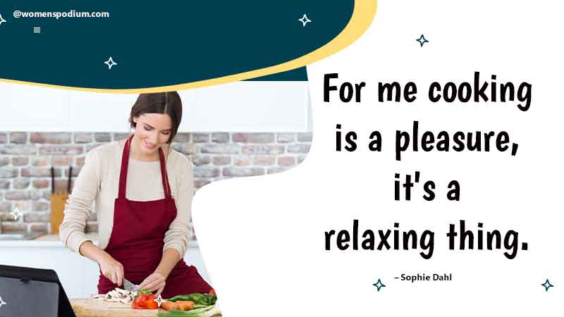 cooking is a pleasure
