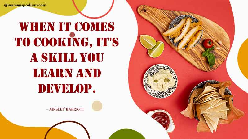 cooking is a skill - Quotes on cooking