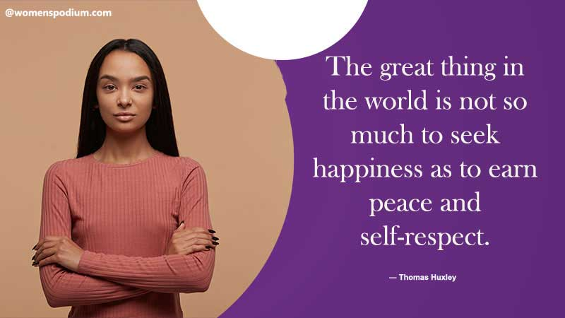 peace and self respect