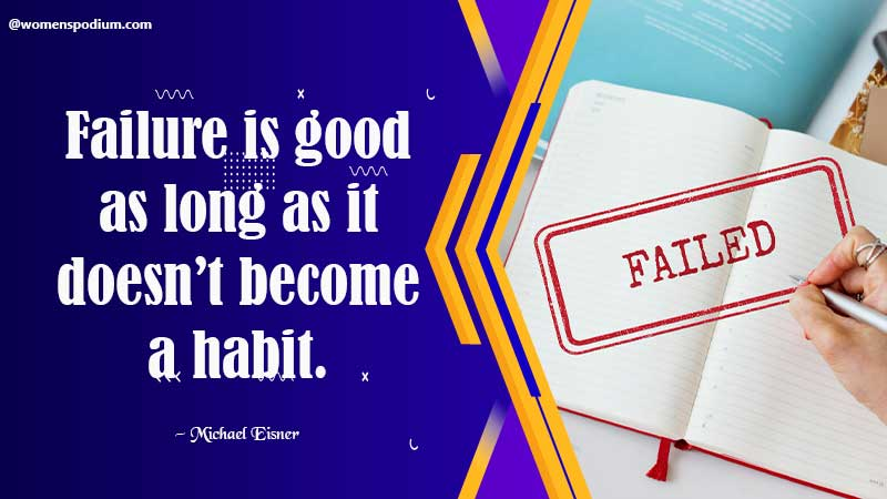 Failure is good - quotes on failure